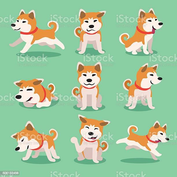 Cartoon character akita inu dog poses vector id506133456?b=1&k=6&m=506133456&s=612x612&h=jljfpfryja 6kknkstxhmjyoq6 xvzf0xiw6gsnq3wg=