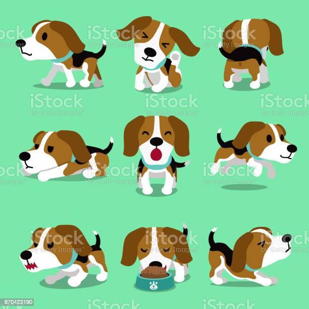Cartoon character beagle dog poses vector id870423190?b=1&k=6&m=870423190&s=612x612&h=lff7jeyemg7rf8jew24yri8pwc0orrrar2kpzyjamam=