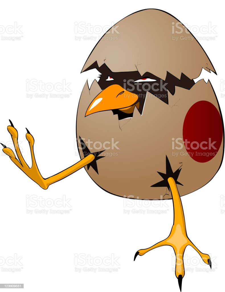 Cartoon Character Chick royalty-free stock vector art