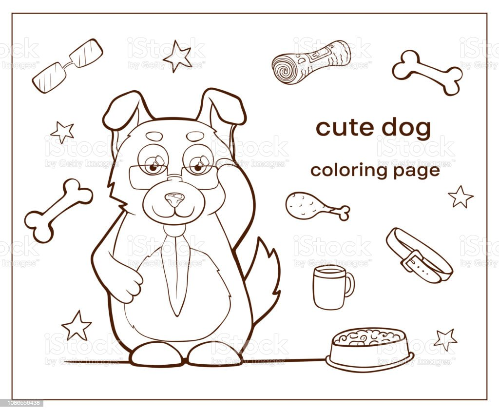 Cartoon Character Cute Dog Coloring Page Puppy Stock Illustration Download Image Now Istock