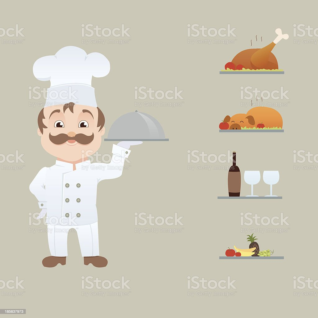 Cartoon Character - Kitchen Chef royalty-free stock vector art
