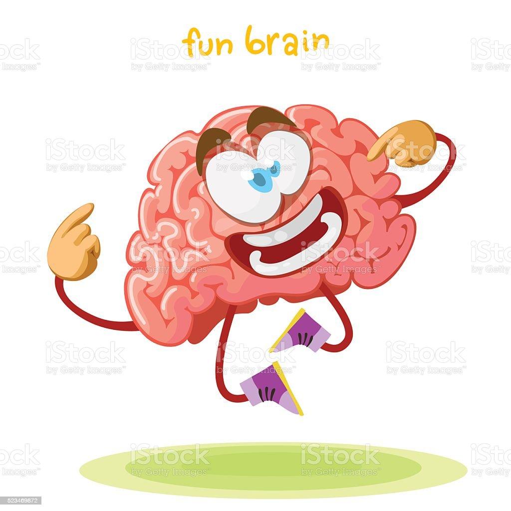 Ilustración de Personaje De Dibujos Animados Mascota Del Cerebro ...