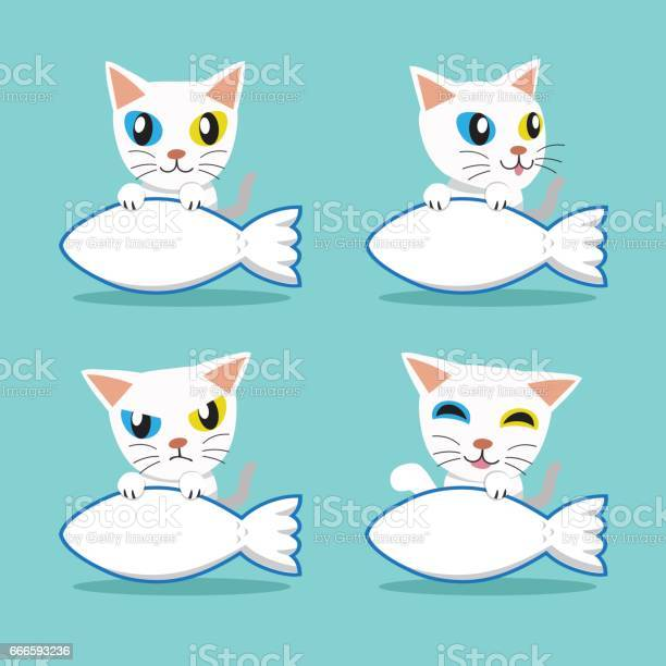 Cartoon character oddeyed cat with big fish sign vector id666593236?b=1&k=6&m=666593236&s=612x612&h=t5 wc6yrycjwlrlvqptsg60wocxarvhcvuigcyxnhfq=