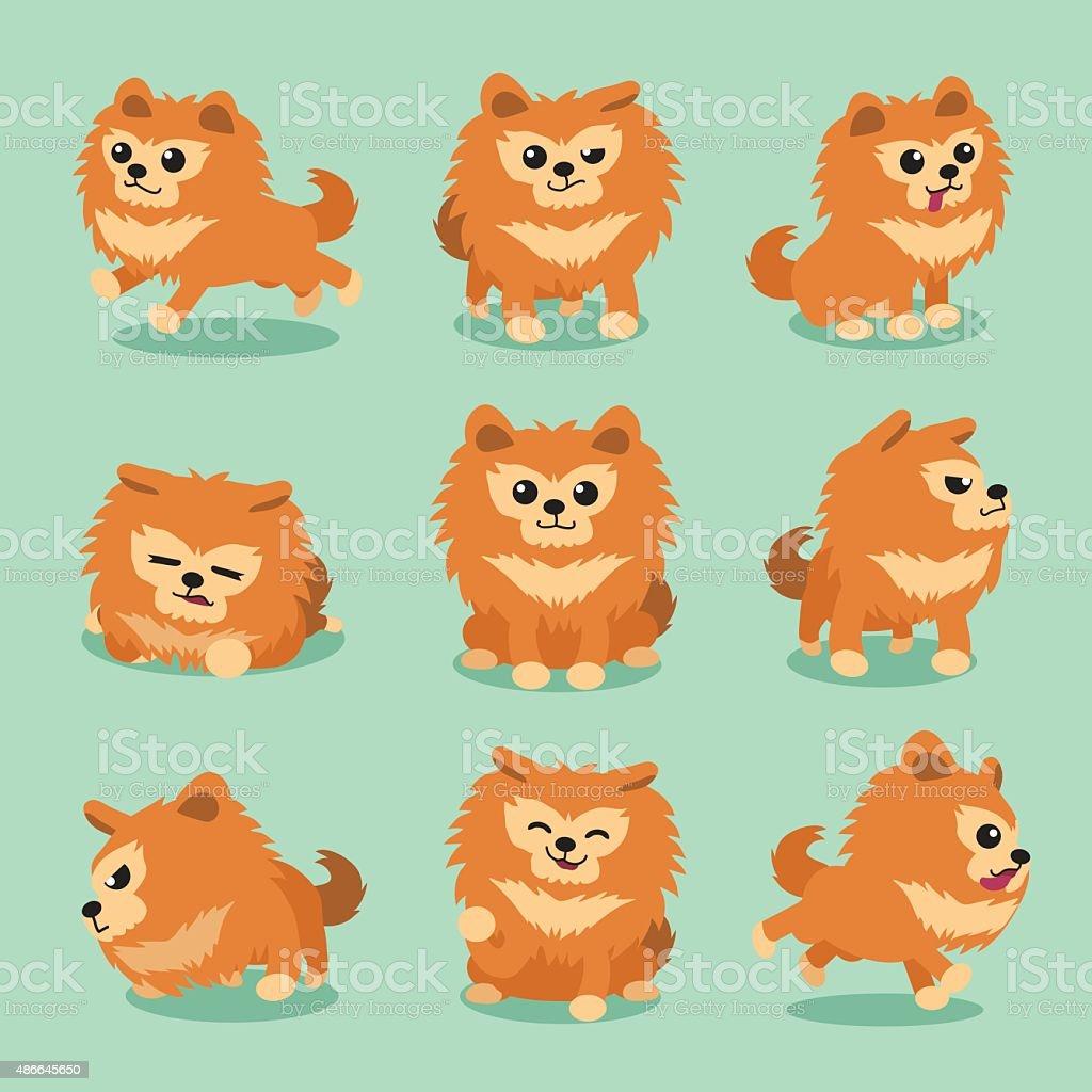 Cartoon Character Pomeranian Dog Poses Stock Illustration Download Image Now Istock