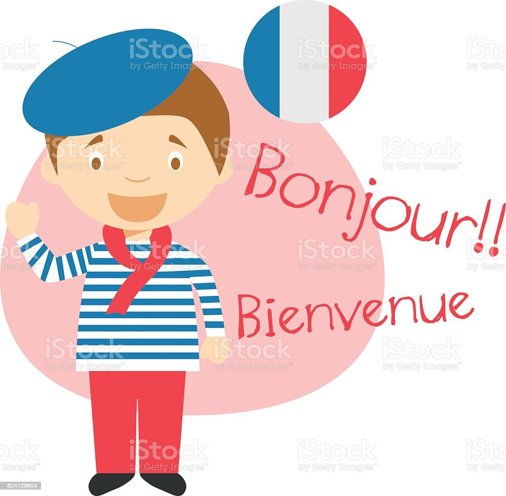 Cartoon character saying hello and welcome in french stock vector cartoon character saying hello and welcome in french royalty free cartoon character saying hello and buycottarizona Gallery