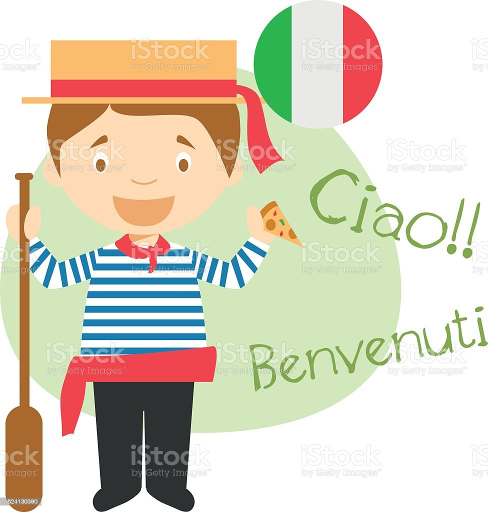 Cartoon character saying hello and welcome in italian stock vector cartoon character saying hello and welcome in italian royalty free cartoon character saying hello and m4hsunfo
