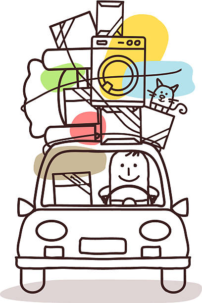 M A S K Cartoon Characters : Royalty free moving house clip art vector images