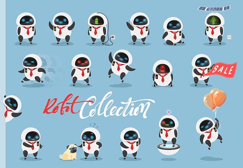 Cartoon characters robots