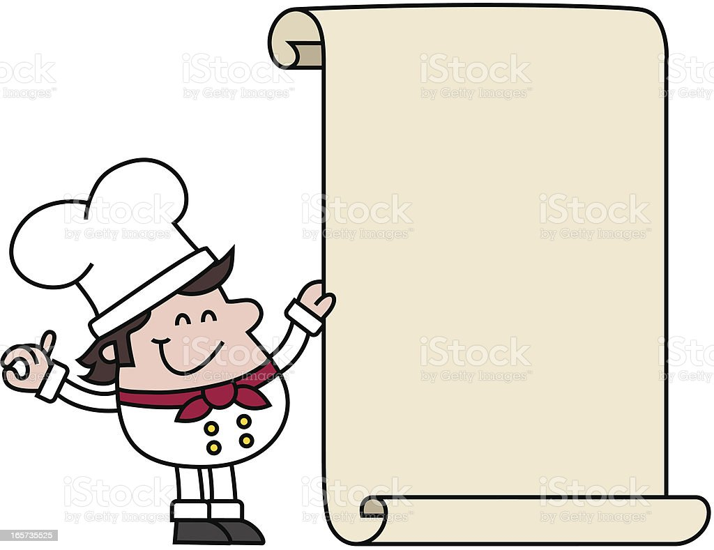 cartoon chef holding blank recipe stock vector art   more chef hat clipart no transpa chef hat clipart 3