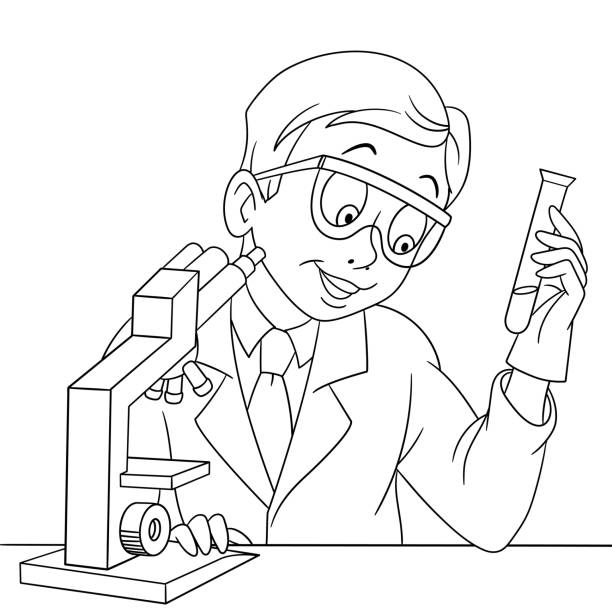 Best Chemistry Coloring Pages Illustrations Royalty Free