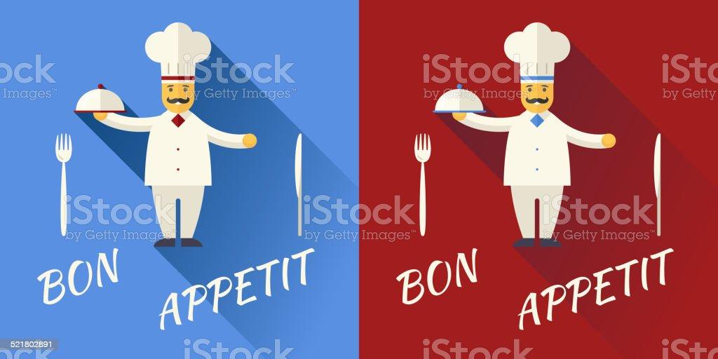 Chef Cuisinier Personnage Dessin De Symbole De La Cuisine De