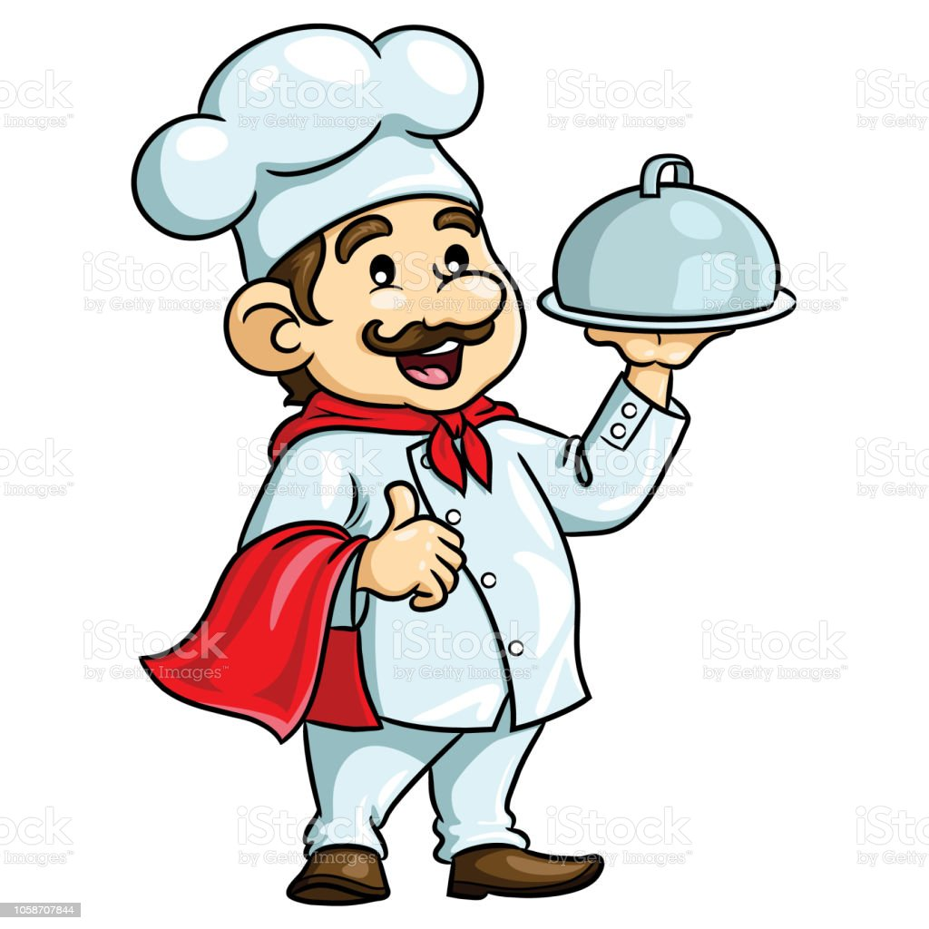 Chef Cartoon Stock Illustration - Download Image Now - iStock