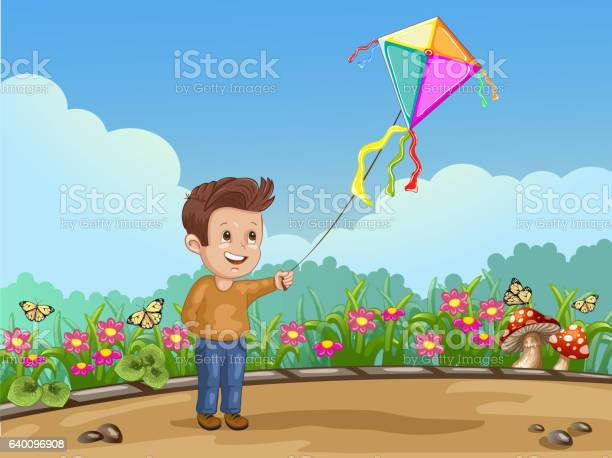 Cartoon child playing with kite in the park vector id640096908?b=1&k=6&m=640096908&s=612x612&h=sef3c0yizmed8d1f5k5pregcvmfzuo5lfi0q0ceiwqs=