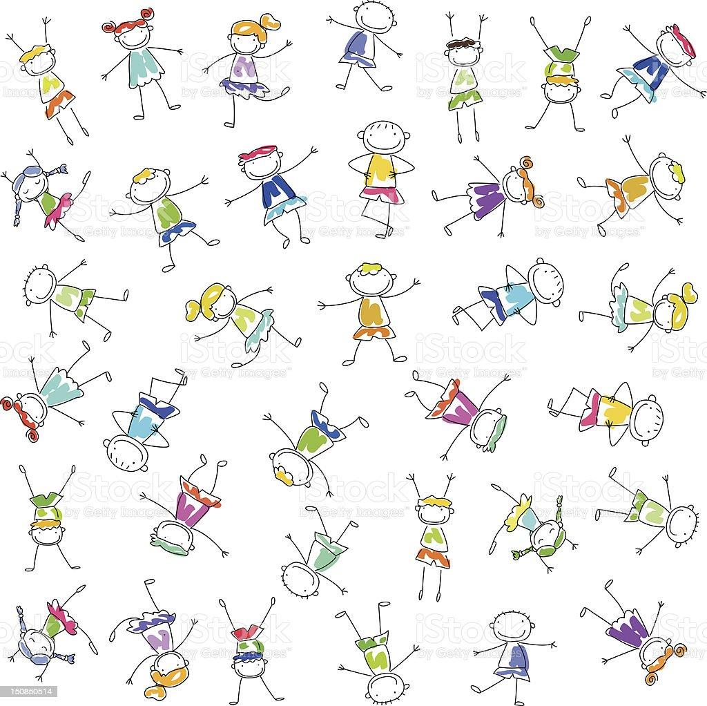 cartoon children background design stock vector art amp more