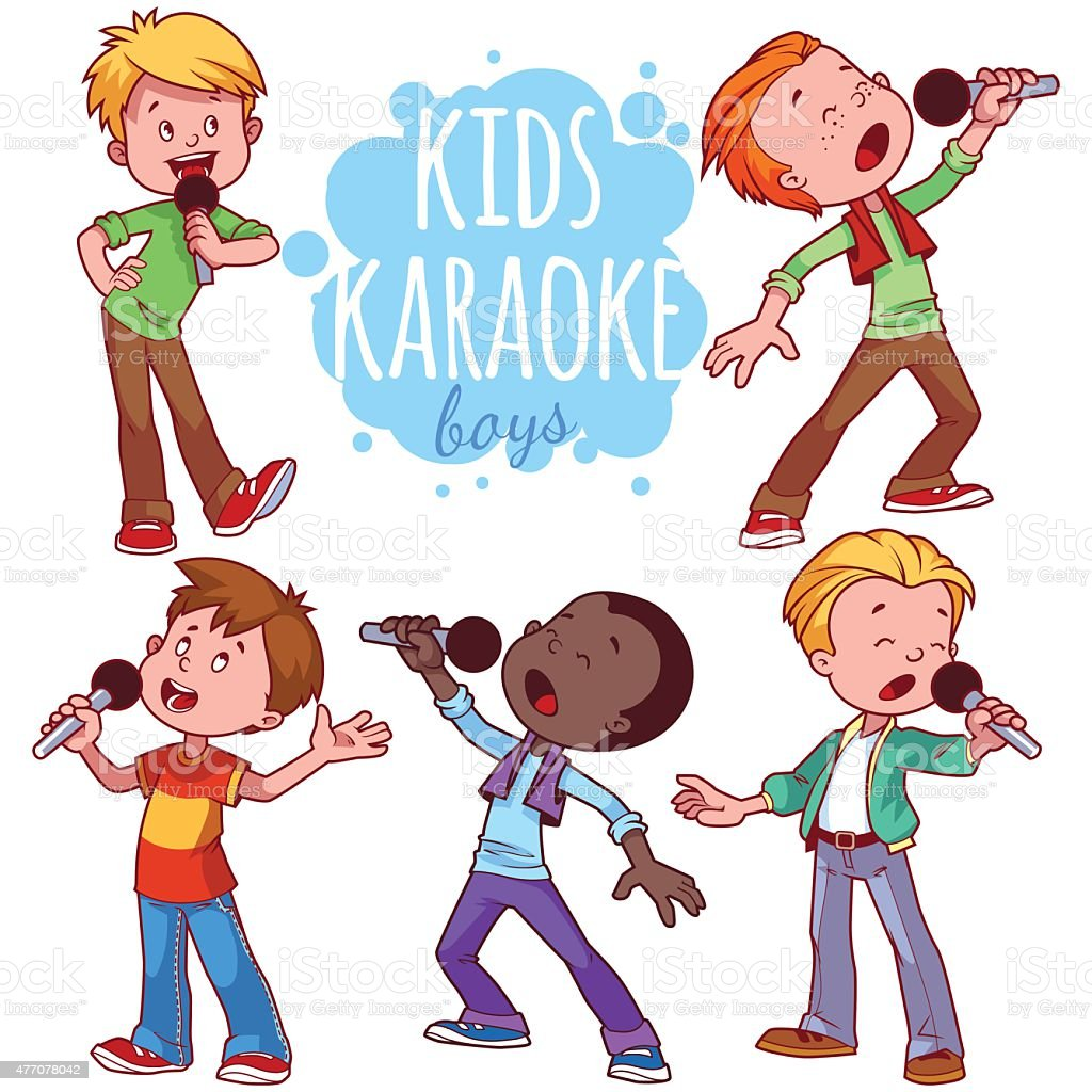 royalty free children singing clip art vector images rh istockphoto com