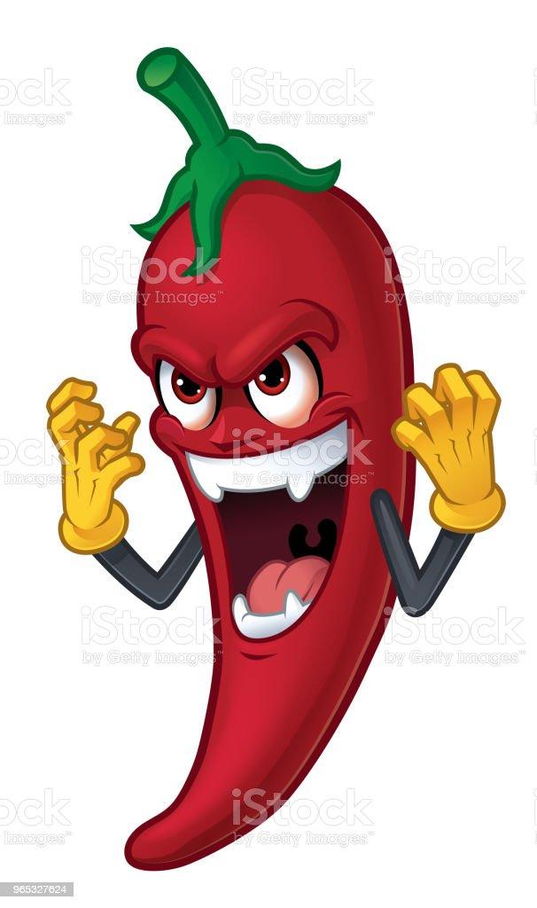 Comicfigur chili – Vektorgrafik