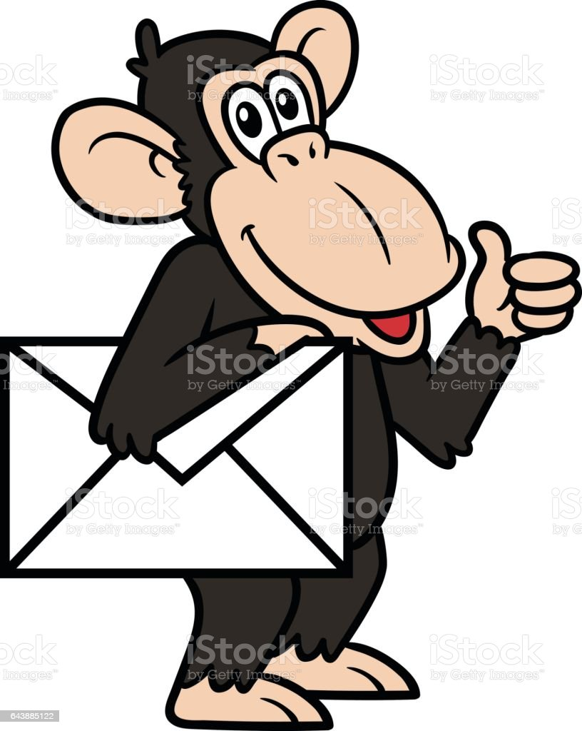 royalty free chimpanzee clip art vector images illustrations istock rh istockphoto com chimpanzee clipart black and white