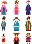 cartoon Chinese people