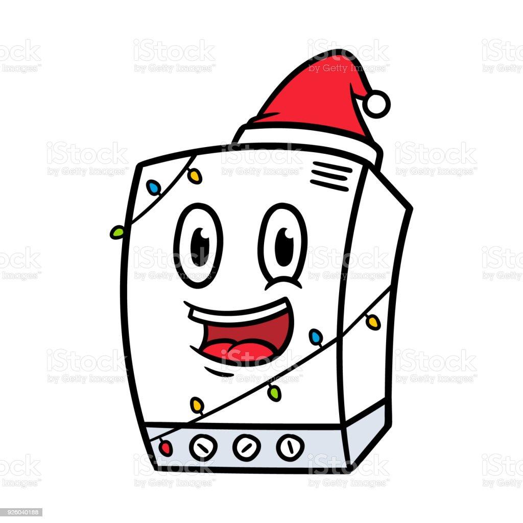 Ilustración de Personaje De Dibujos Animados Navidad Caldera Combi y ...