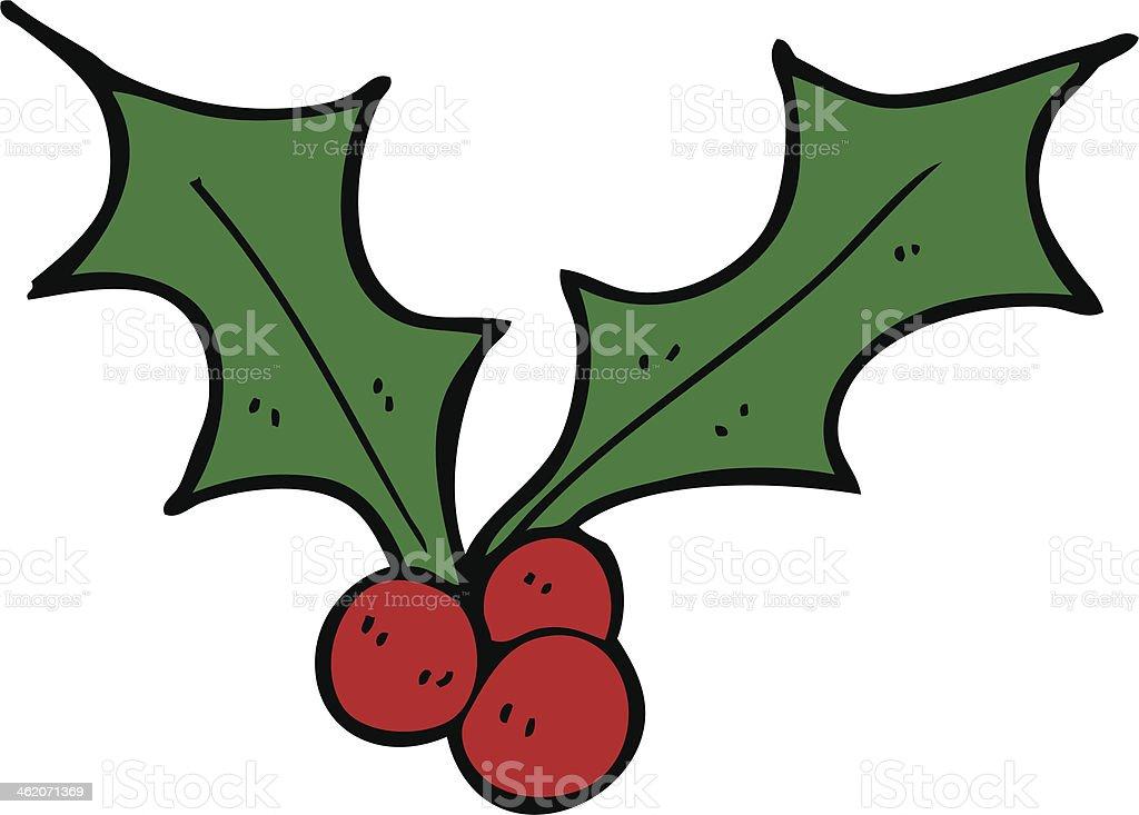 Christmas Holly Cartoon.Cartoon Christmas Holly Stock Illustration Download Image