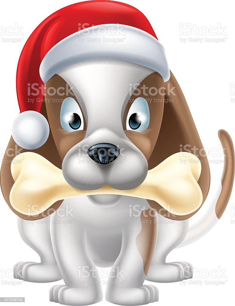 Cartoon Christmas Puppy Stock Illustration Download Image Now Istock