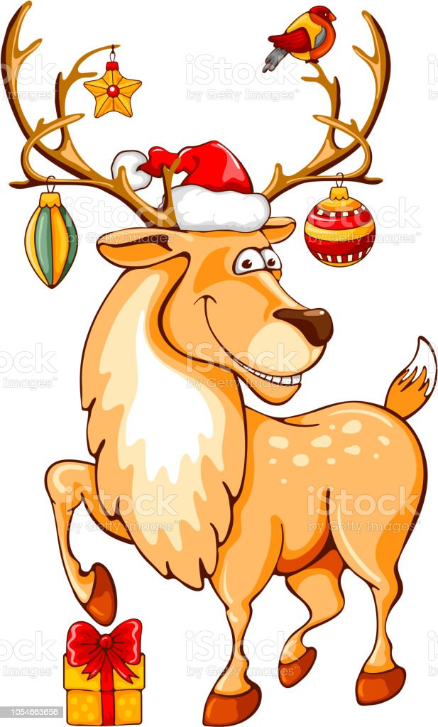 cartoon christmas reindeer stock illustration download image now istock cartoon christmas reindeer stock illustration download image now istock