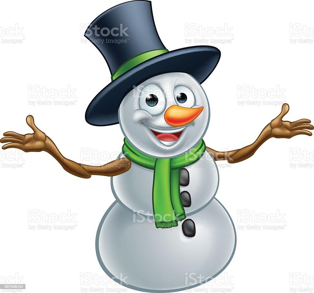 Ilustración De Dibujos De Navidad Muñeco De Nieve Y Más Vectores