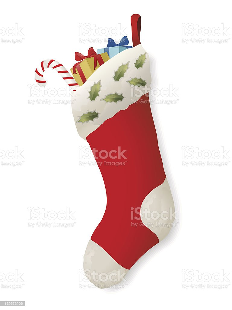 Cartoon Christmas stocking stuffed with presents royalty-free cartoon christmas stocking stuffed with presents stock vector art & more images of celebration event