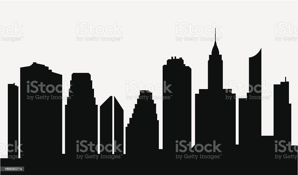 cartoon city skyline black silhouette white background stock vector rh istockphoto com cartoon city skyline night how to draw cartoon city skyline