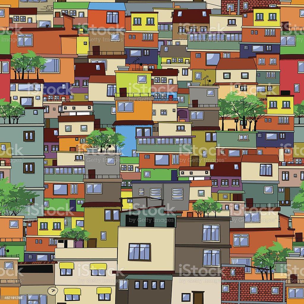 Cartoon city vector art illustration