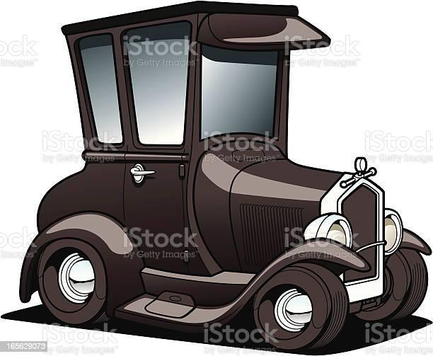 Cartoon Classic Car Stock Illustration - Download Image Now