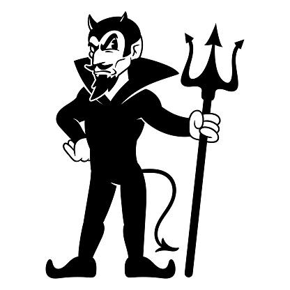 Cartoon Classic Devil Mascot Illustration