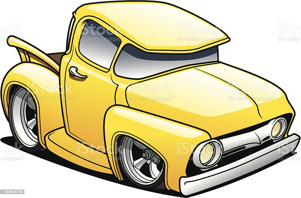 Cartoon Classic Truck royalty-free cartoon classic truck stock vector art & more images of car