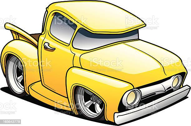 Cartoon Classic Truck Stock Illustration - Download Image Now