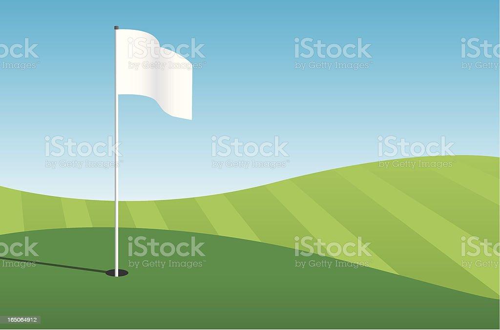 Cartoon clip art of hole at golf course vector art illustration