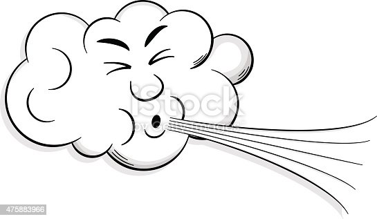 istock cartoon cloud blows wind 475883966