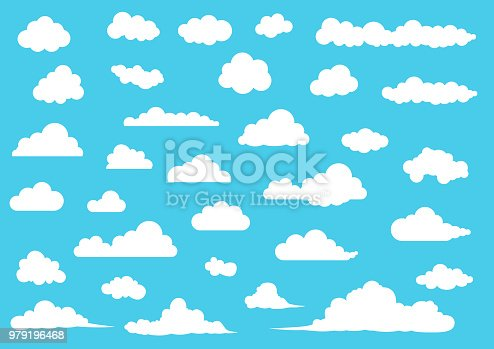 Cloud balloon icon , element set
