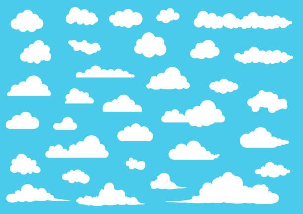 漫画のベクトル図雲セット - 空点のイラスト素材/クリップアート素材/マンガ素材/アイコン素材