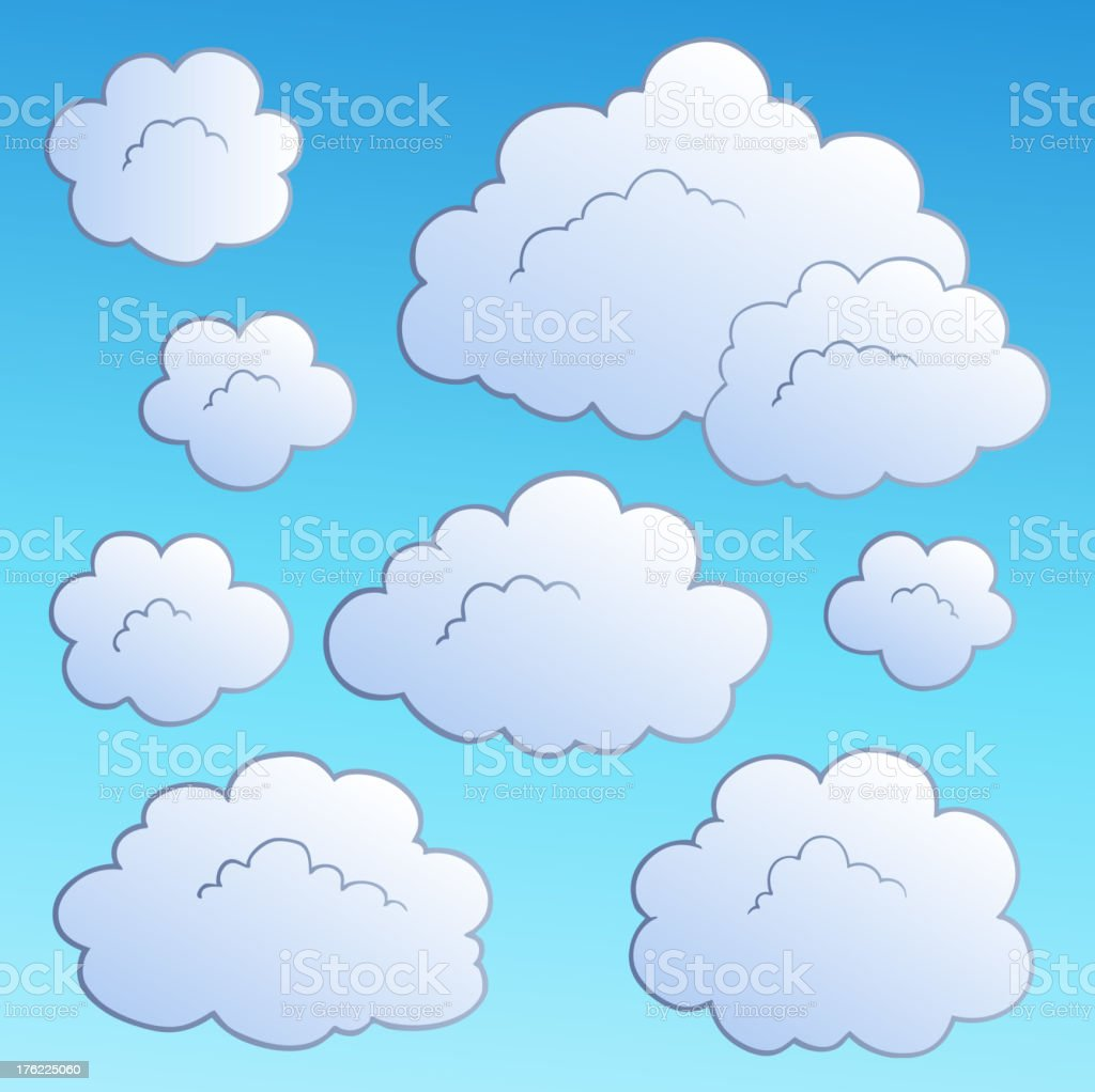 Cartoon clouds collection 2 royalty-free stock vector art