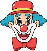 Cartoon Clown Face Vector Illustration