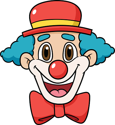 Cartoon Clown Face Vector Illustration Stock Illustration ...