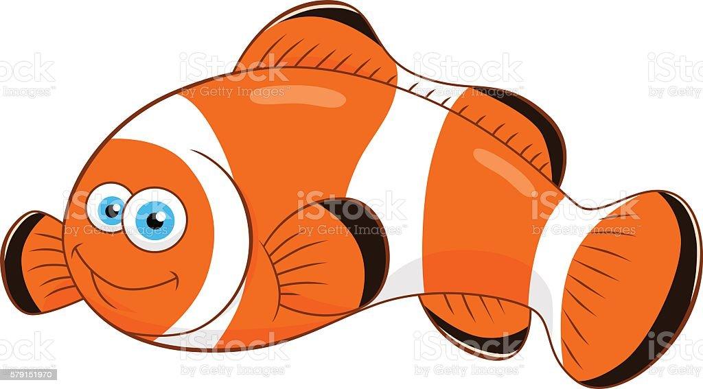 Cartoon Clown Fish Stock Vector Art & More Images of Anemonefish ...