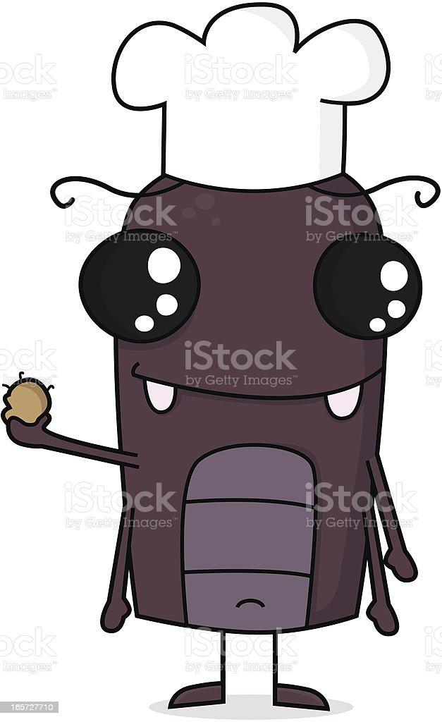 Cartoon Cockroach in Kitchen royalty-free stock vector art