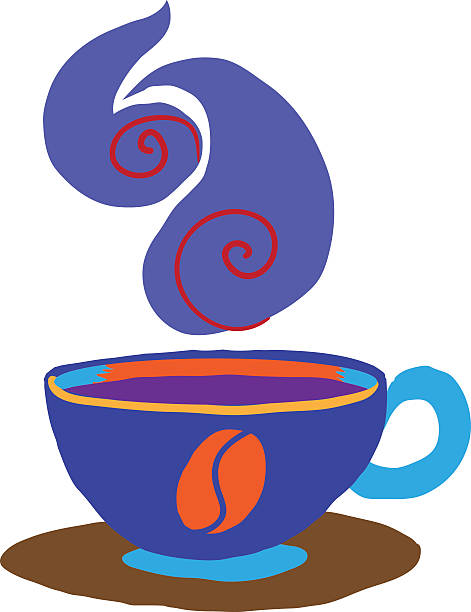 Cartoon coffee cup icon. vector art illustration