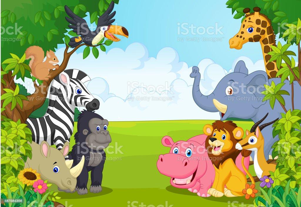 africa, animal, cartoon, collection, elephant, flower, fun, funny,...