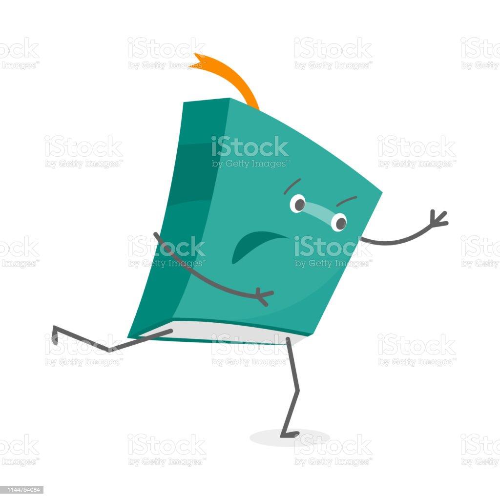 Cartoon Couleur Livre Emoji Personnage Personne Vecteur