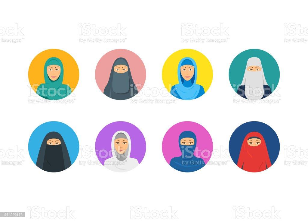 Ilustración de Dibujos Animados Color Oriente Religiosas Vestidos ...