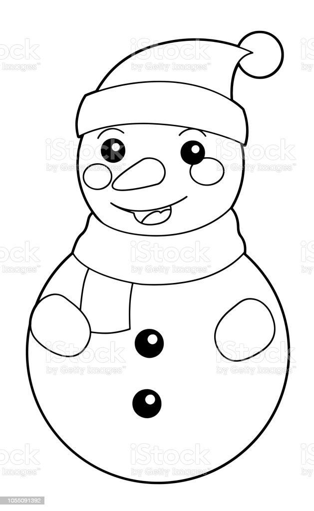 Ilustración de Dibujos Animados Para Colorear Ilustración Para Niños ...