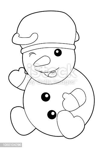 ᐈ Imagen De Dibujos Animados Para Colorear Ilustración Para Niños