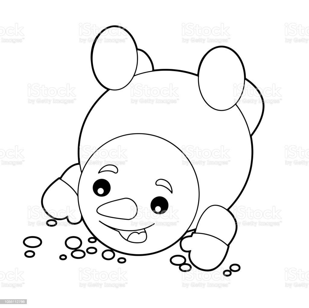 Ilustración De Dibujos Animados Para Colorear Ilustración Para Niños